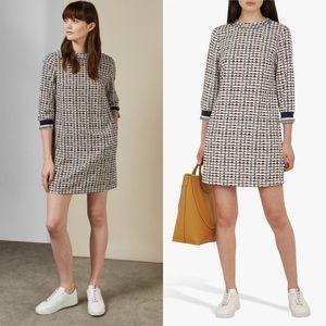 Ted Baker 3 Karleen Triangle 3/4 Sleeves Dress